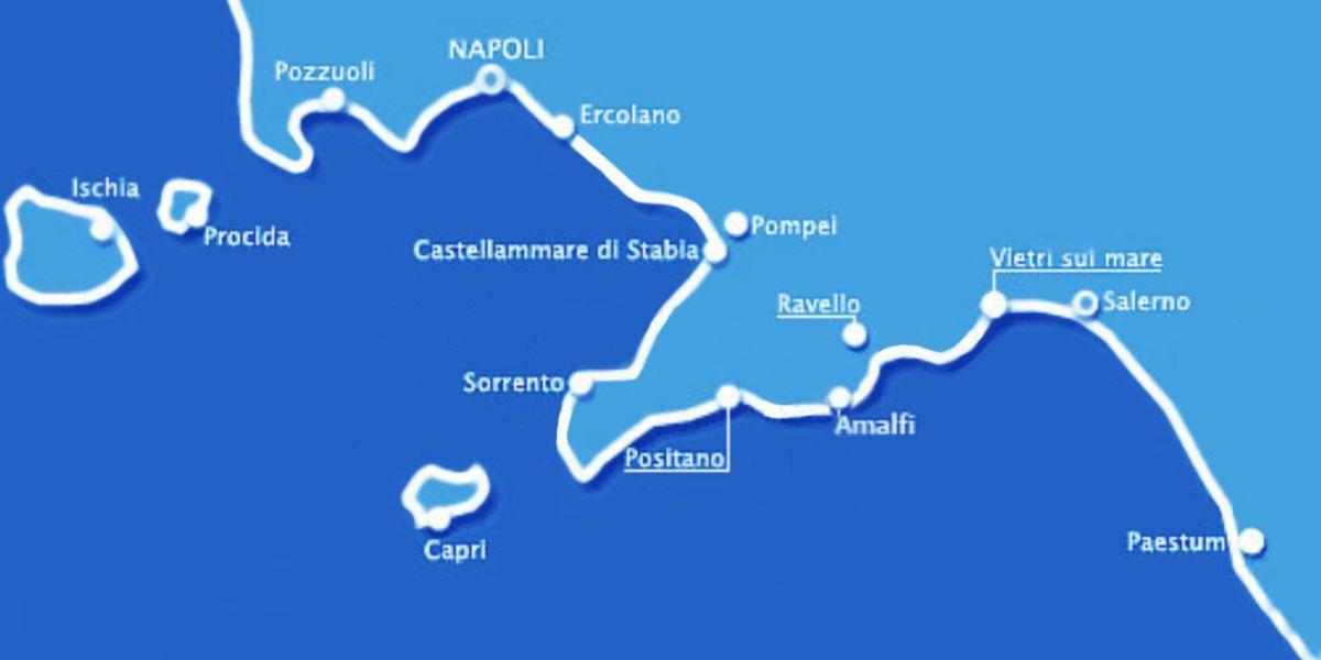 Mappa Penisola Sorrentina